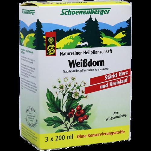 Verpackungsbild(Packshot) von WEISSDORN SAFT Schoenenberger Heilpflanzensäfte