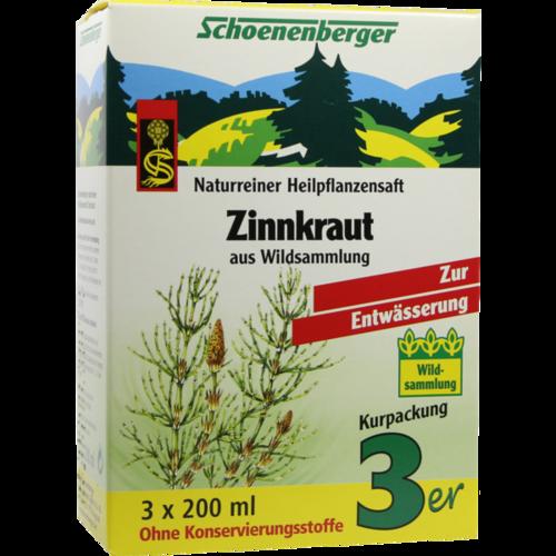Verpackungsbild(Packshot) von ZINNKRAUT SAFT Schoenenberger Heilpflanzensäfte