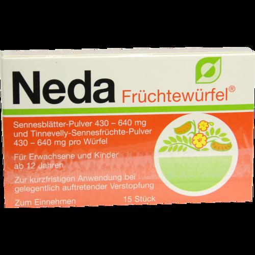 Verpackungsbild(Packshot) von NEDA Früchtewürfel