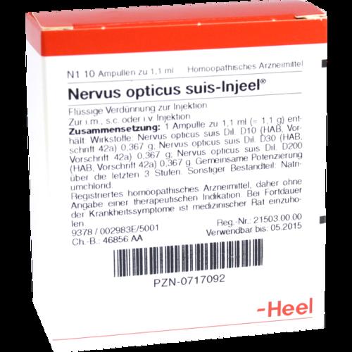 Verpackungsbild(Packshot) von NERVUS OPTICUS suis Injeel Ampullen