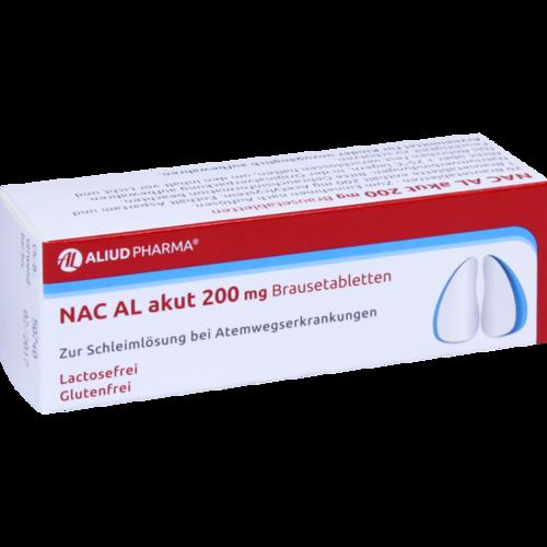 Verpackungsbild(Packshot) von NAC AL akut 200 mg Brausetabletten