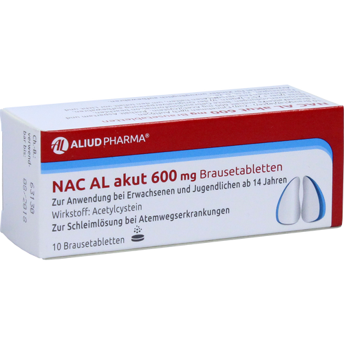 Verpackungsbild(Packshot) von NAC AL akut 600 mg Brausetabletten