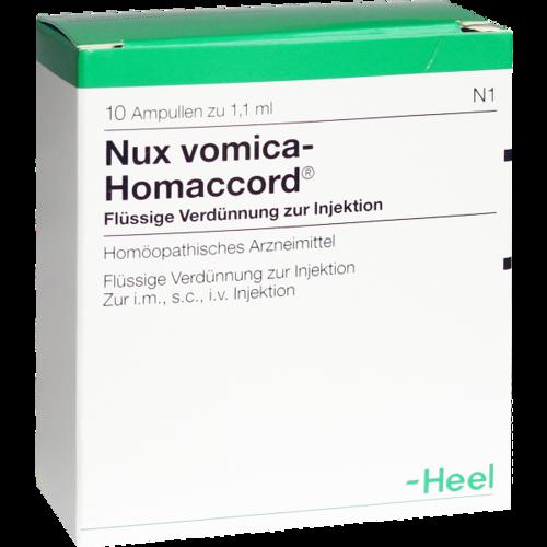 Verpackungsbild(Packshot) von NUX VOMICA HOMACCORD Ampullen