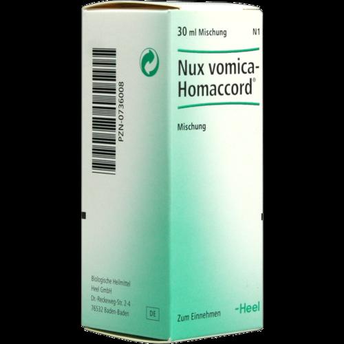 Verpackungsbild(Packshot) von NUX VOMICA HOMACCORD Tropfen