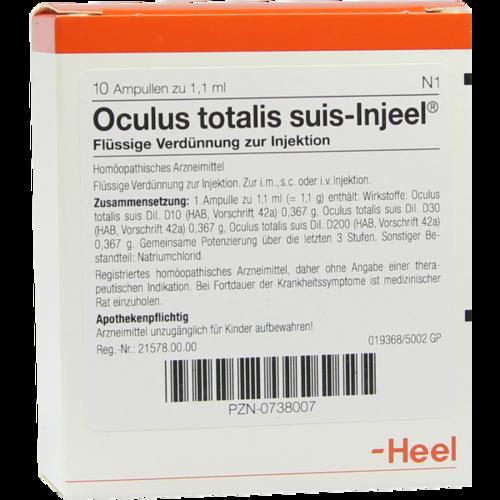 Verpackungsbild(Packshot) von OCULUS totalis suis Injeel Ampullen
