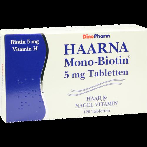Verpackungsbild(Packshot) von HAARNA Mono Biotin Tabletten