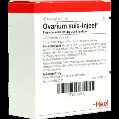 Verpackungsbild(Packshot) von OVARIUM SUIS Injeel Ampullen