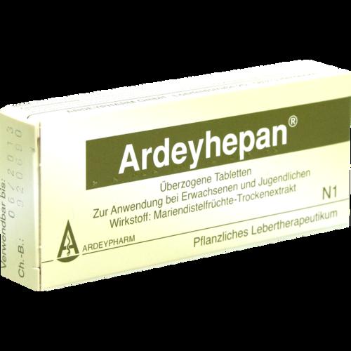 Verpackungsbild(Packshot) von ARDEYHEPAN überzogene Tabletten