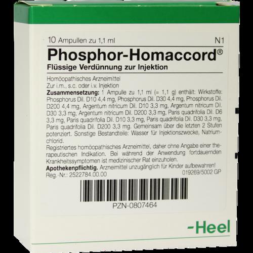 Verpackungsbild(Packshot) von PHOSPHOR HOMACCORD Ampullen