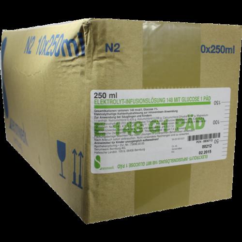 Verpackungsbild(Packshot) von ELEKTROLYT Inf.-Lsg. 148 m.Glucose 1 päd.