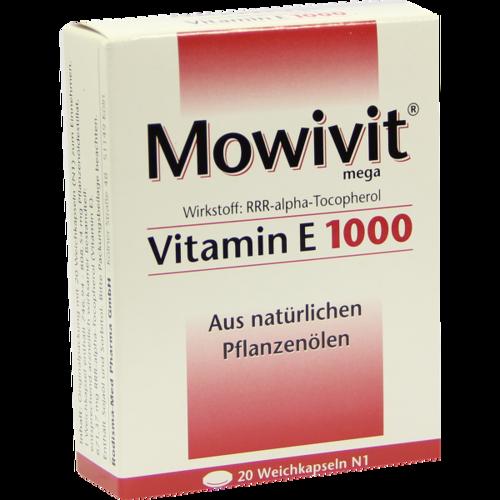 Verpackungsbild(Packshot) von MOWIVIT Vitamin E 1000 Kapseln