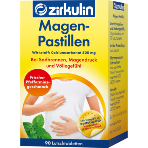 Verpackungsbild(Packshot) von ZIRKULIN Magen-Pastillen