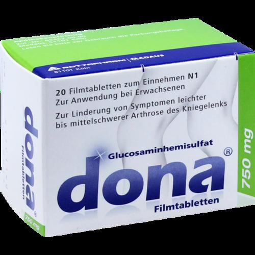 Verpackungsbild(Packshot) von DONA 750 mg Filmtabletten