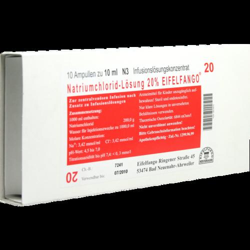 Verpackungsbild(Packshot) von NATRIUMCHLORID 20% Eifelfango Infusionslsg.-Konz.