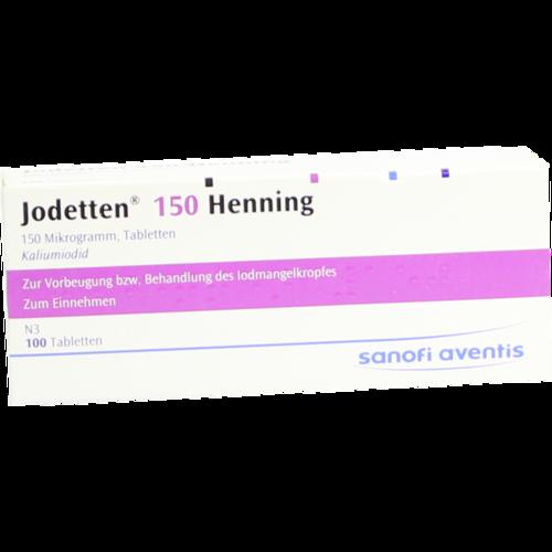 Verpackungsbild(Packshot) von JODETTEN 150 Henning Tabletten