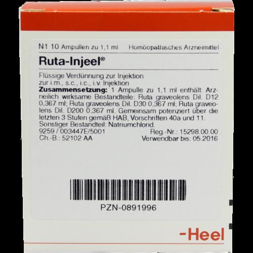 Verpackungsbild(Packshot) von RUTA INJEEL Ampullen