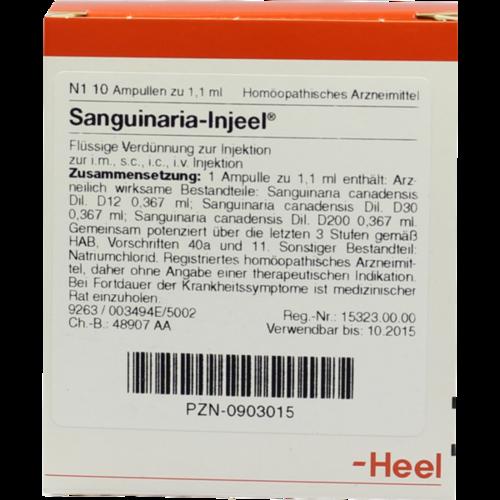 Verpackungsbild(Packshot) von SANGUINARIA INJEEL Ampullen