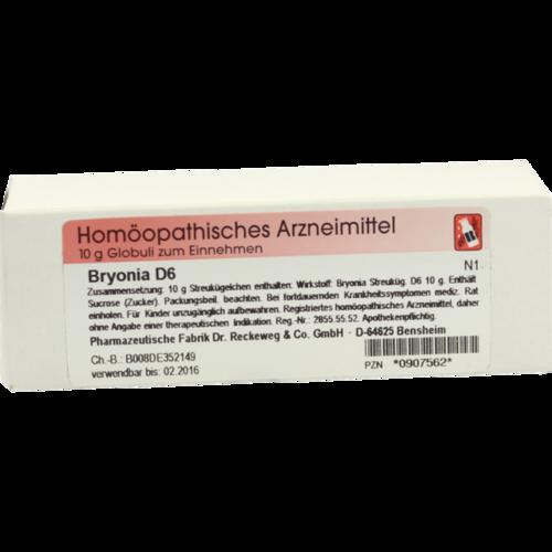Verpackungsbild(Packshot) von BRYONIA D 6 Globuli