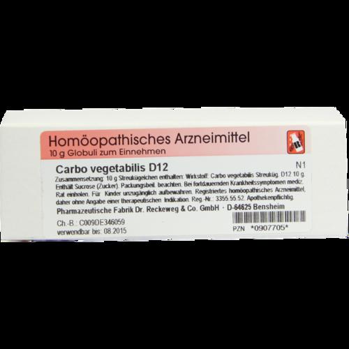 Verpackungsbild(Packshot) von CARBO VEGETABILIS D 12 Globuli