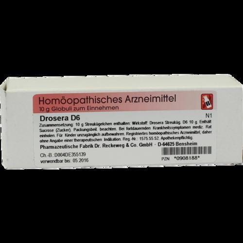 Verpackungsbild(Packshot) von DROSERA D 6 Globuli