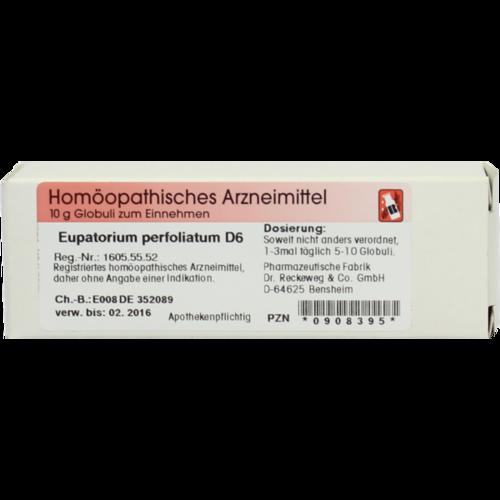 Verpackungsbild(Packshot) von EUPATORIUM PERFOLIATUM D 6 Globuli