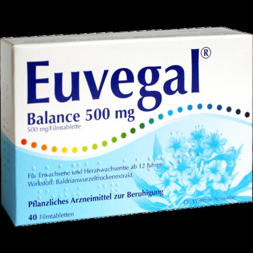 Verpackungsbild(Packshot) von EUVEGAL Balance 500 mg Filmtabletten