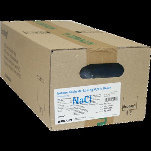 Verpackungsbild(Packshot) von KOCHSALZLÖSUNG 0,9% Braun Ecobag