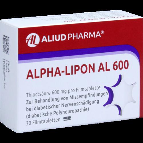Verpackungsbild(Packshot) von ALPHA LIPON AL 600 Filmtabletten