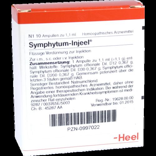 Verpackungsbild(Packshot) von SYMPHYTUM INJEEL Ampullen