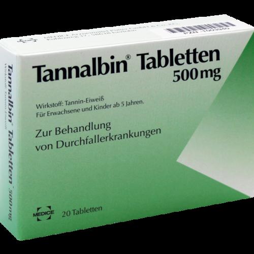 Verpackungsbild(Packshot) von TANNALBIN Tabletten