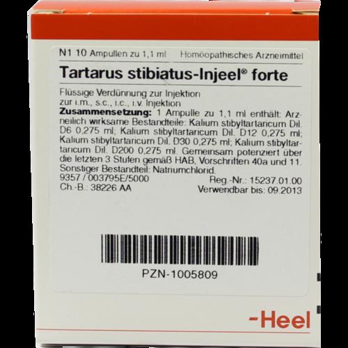 Verpackungsbild(Packshot) von TARTARUS STIBIATUS INJEEL forte Ampullen