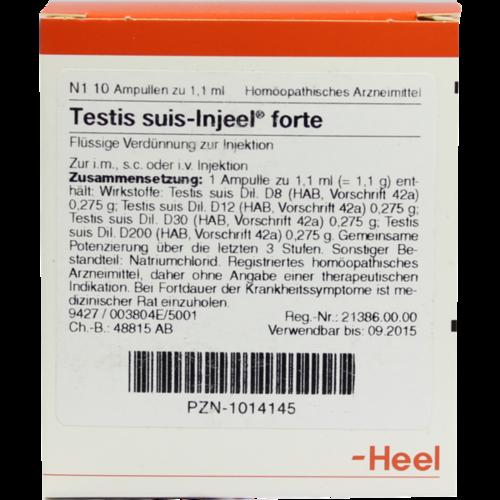 Verpackungsbild(Packshot) von TESTIS SUIS Injeel forte Ampullen