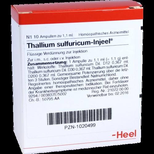 Verpackungsbild(Packshot) von THALLIUM SULFURICUM INJEEL Ampullen