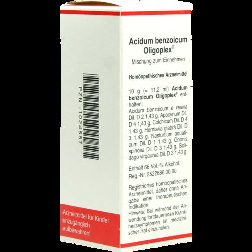 Verpackungsbild(Packshot) von ACIDUM BENZOICUM OLIGOPLEX Liquidum