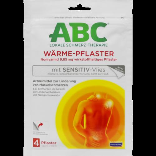 Verpackungsbild(Packshot) von ABC Wärme-Pflaster sensitive Hansaplast med 10x14
