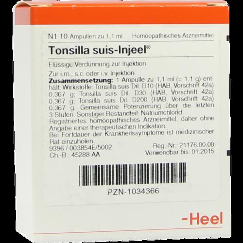 Verpackungsbild(Packshot) von TONSILLA SUIS Injeel Ampullen