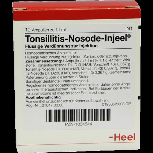 Verpackungsbild(Packshot) von TONSILLITIS Nosode Injeel Ampullen