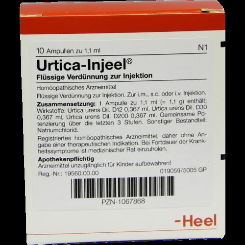 Verpackungsbild(Packshot) von URTICA INJEEL Ampullen