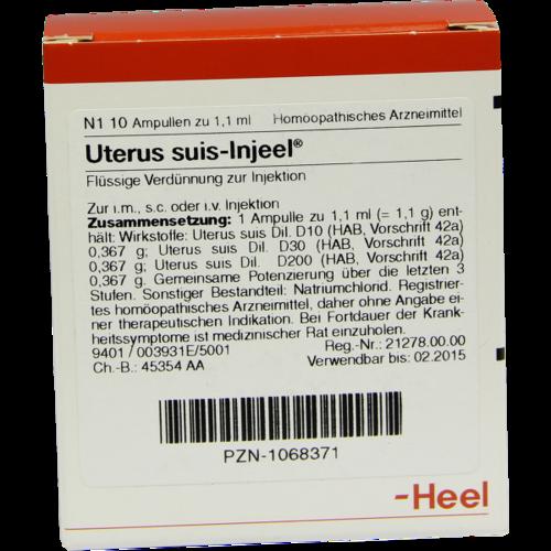 Verpackungsbild(Packshot) von UTERUS SUIS Injeel Ampullen
