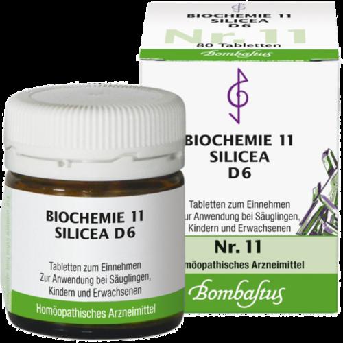 Verpackungsbild(Packshot) von BIOCHEMIE 11 Silicea D 6 Tabletten
