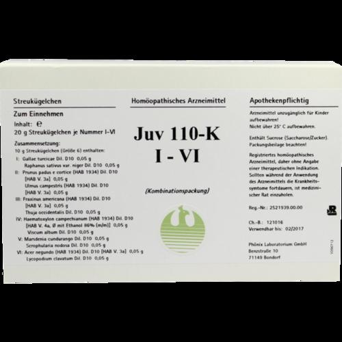 Verpackungsbild(Packshot) von JUV 110 K I-VI Globuli