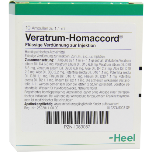 Verpackungsbild(Packshot) von VERATRUM HOMACCORD Ampullen