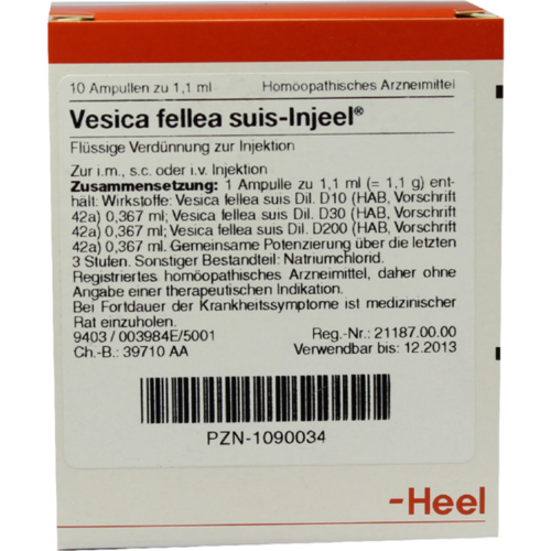 Verpackungsbild(Packshot) von VESICA FELLEA suis-Injeel Ampullen
