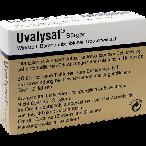 Verpackungsbild(Packshot) von UVALYSAT Bürger überzogene Tabletten