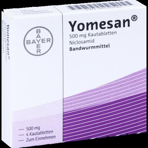 Verpackungsbild(Packshot) von YOMESAN 500 mg Kautabletten