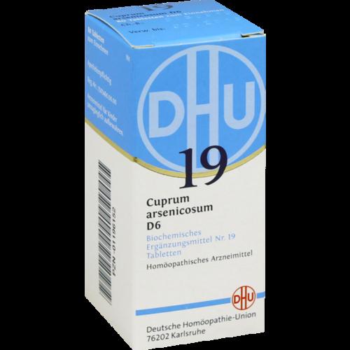 Verpackungsbild(Packshot) von BIOCHEMIE DHU 19 Cuprum arsenicosum D 6 Tabletten