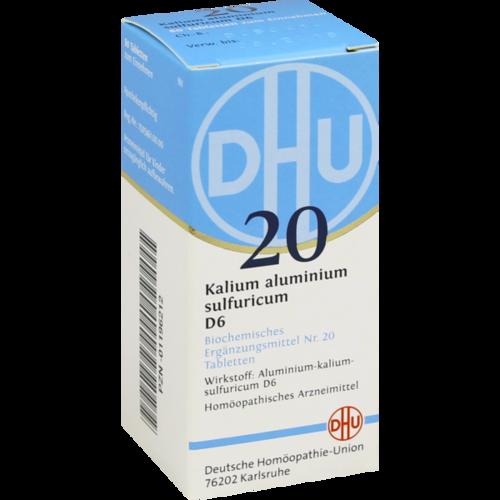 Verpackungsbild(Packshot) von BIOCHEMIE DHU 20 Kalium alum.sulfur.D 6 Tabletten