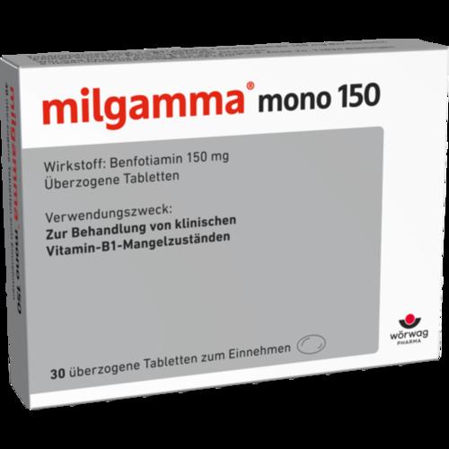 Verpackungsbild(Packshot) von MILGAMMA mono 150 überzogene Tabletten