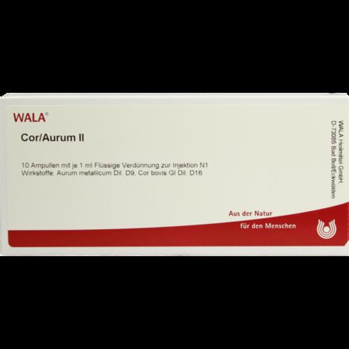 Verpackungsbild(Packshot) von COR/AURUM II Ampullen