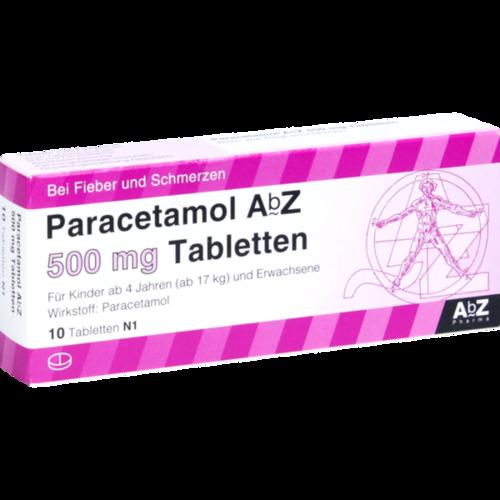Verpackungsbild(Packshot) von PARACETAMOL AbZ 500 mg Tabletten